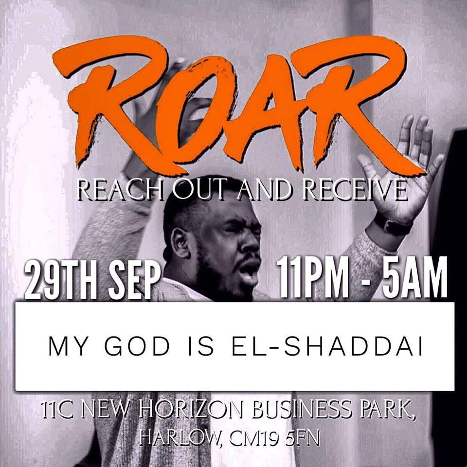 R.O.A.R Night, All Night Prayer This Friday!